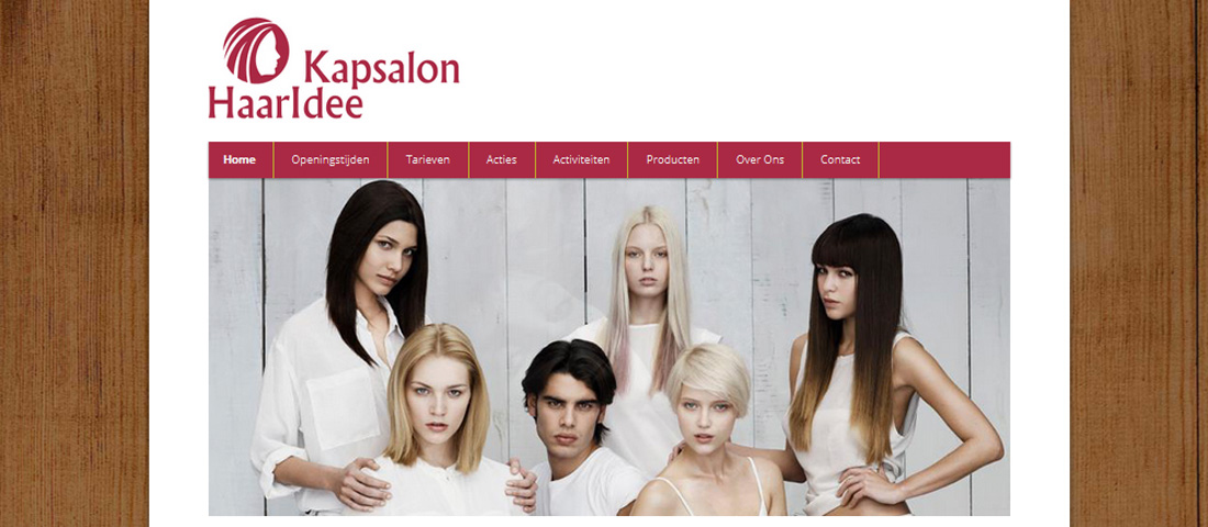 website Kapsalon HaarIdee
