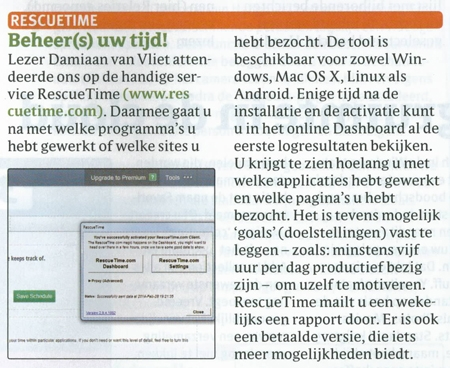 ComputerIdee 2014 rescuetime artikel Damiaan