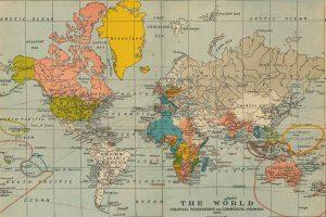 Foto Wereldkaart