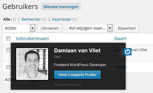 WordPress gravatar Damiaan van Vliet