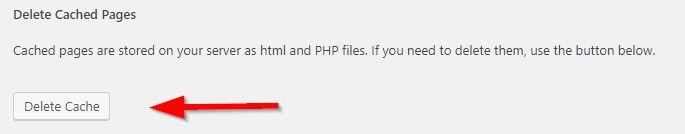 caching bij een WordPress website